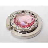 Bingsale® Taschenhalter Rosa Crystal (klar) mit magnetischer Gliederhalterung - Taschenhaken & Handtaschenhalter als perfekte Geschenkidee für Frau, Freundin, Mutter und Tochter