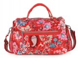 Oilily Winter Leafs M Carry All - Ruby