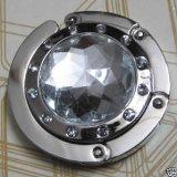 Bingsale® Taschenhalter Grau Crystal (klar) mit magnetischer Gliederhalterung - Taschenhaken & Handtaschenhalter als perfekte Geschenkidee für Frau, Freundin, Mutter und Tochter