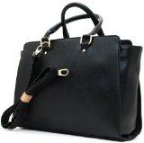 LONDON Fashion HENKEL Handtasche in zwei Farben (Schwarz große Variante)