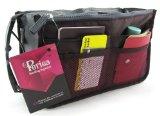 Periea Handtaschenordner, Einlage, Einsatz 12 Taschen groß 28x17x9cm - Chelsy weinrot
