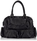 PIECES NAINA LEATHER BAG 14 17059918 Damen Henkeltaschen 37x27x12 cm (B x H x T), Schwarz (Black Black)