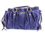 MiuMiu Damen Handtasche aus Wildleder, violet