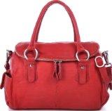 MASQUENADA, Cntmp, Damen Leder Henkeltaschen, Handtaschen, Boltbags, Rot, 29x23x10cm (B x H x T)
