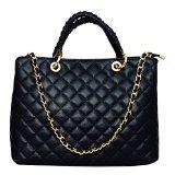 CHIC Italienische Tasche Shopper Damentasche Handtasche Handarbeit echt Leder Made in Italy
