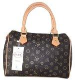 #1096 Gogo Damen Designer Handtasche Bowlingbag Braun