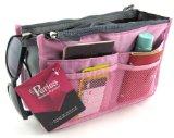 Periea Handtaschenordner, Einlage, Einsatz 12 Taschen groß 28x17x9cm - Chelsy rosa