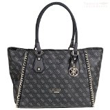 Guess Dylan Confidential Chain Med Tote SC491323 Damen Handtasche 35x29x8cm coal