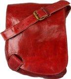 Gusti Leder Damen Leder-Handtasche Rot Umhängetasche Schultertasche Vintage Marrokanische Ledertasche Damen Elegant Modern Originell H50