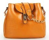 SAIERLONG Damen Sweet Lady Erdigen Yellow Echtes Leder Handtasche Umhängetasche diagonal-Paket