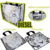 DIESEL Einkaufstasche, Tragetasche, Handtasche D3 (Schwarz weiss)