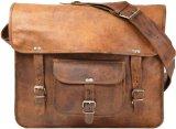 Umhängetasche Gusti Leder Vintage Laptoptasche Ledertasche Unitasche Collegetasche Lehrertasche Schultasche Bürotasche Leitz-Ordner Groß U23