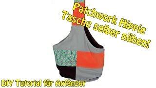 DIY | Patchwork Hippie Tasche selber nähen | Nähen für Anfänger | Tutorial